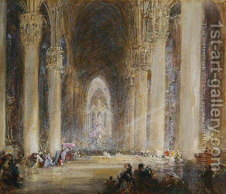 Milan Cathedral by James Holland - Reproduction Oil Painting