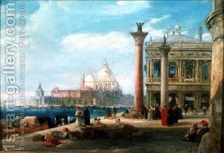 Piazza di San Marco Venice by James Holland - Reproduction Oil Painting