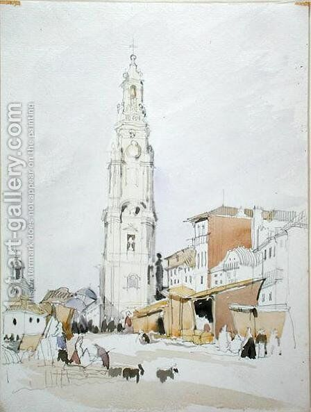 The Tower of the Clergy Oporto by James Holland - Reproduction Oil Painting