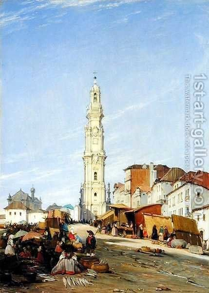 Torre dos Clerigos Oporto Portugal by James Holland - Reproduction Oil Painting