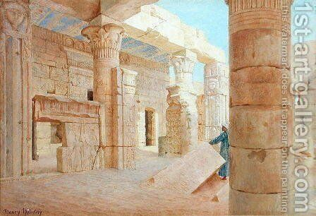 Temple of Philae by Henry Holiday - Reproduction Oil Painting