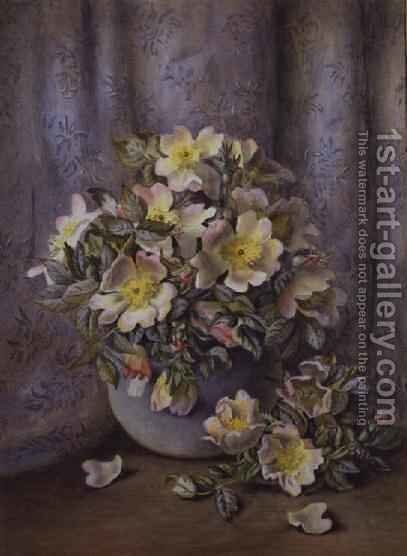 Still Life of Roses by Agnes Louise Holding - Reproduction Oil Painting