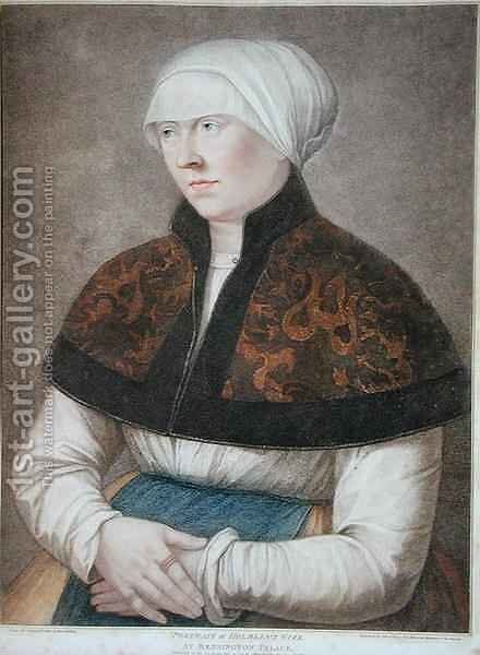Portrait of Holbeins Wife by (after) Holbein the Younger, Hans - Reproduction Oil Painting
