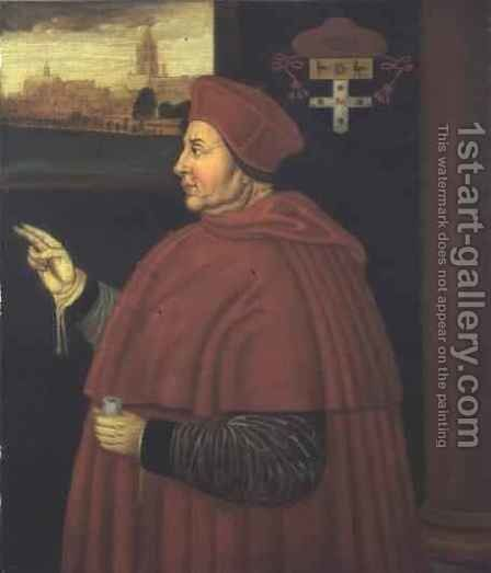 Cardinal Wolsey by (after) Holbein the Younger, Hans - Reproduction Oil Painting