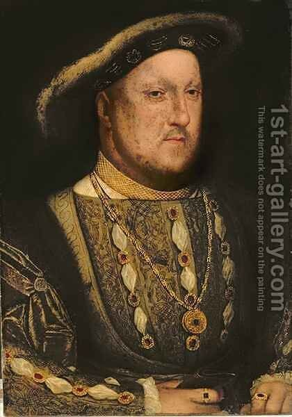 Portrait of Henry VIII 1491-1547 by (after) Holbein the Younger, Hans - Reproduction Oil Painting