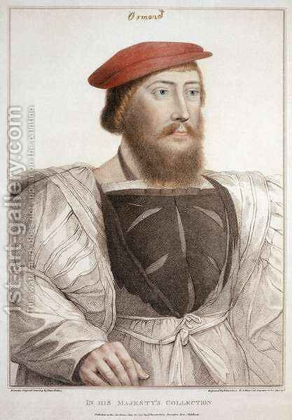 Sir Thomas Boleyn 1477-1539 by (after) Holbein the Younger, Hans - Reproduction Oil Painting