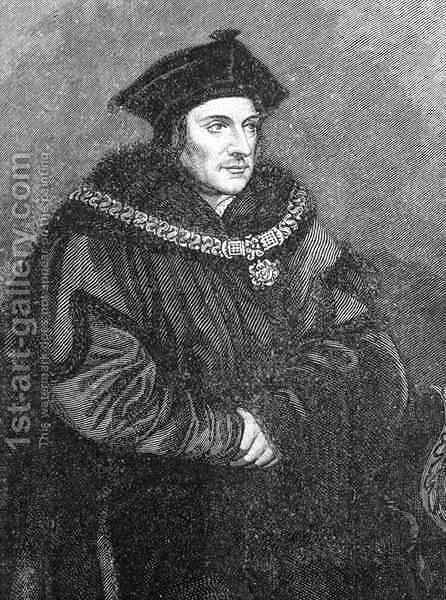Sir Thomas More 1478-1535 2 by (after) Holbein the Younger, Hans - Reproduction Oil Painting
