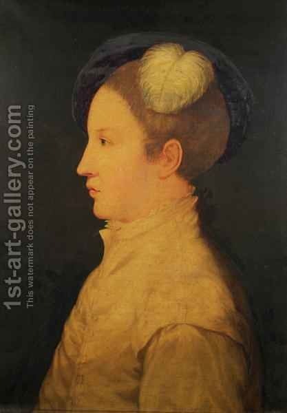 Edward VI as Prince of Wales by (after) Holbein the Younger, Hans - Reproduction Oil Painting