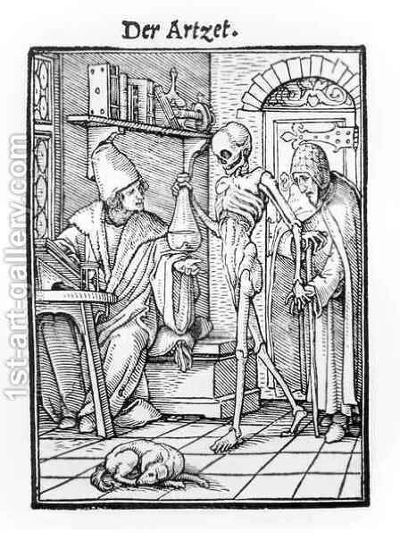 Death and the Physician by (after) Holbein the Younger, Hans - Reproduction Oil Painting