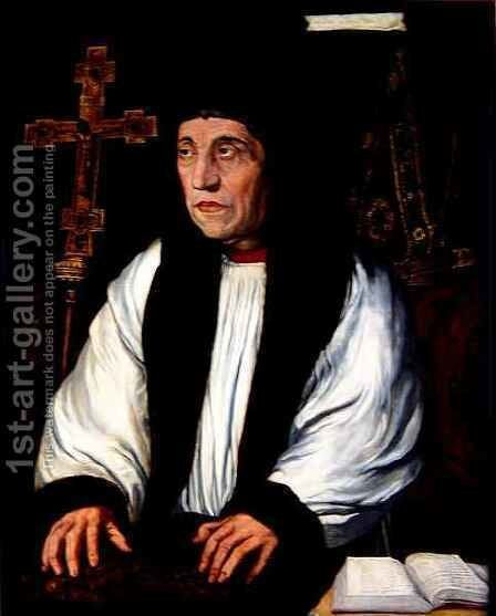 William Warham Archbishop of Canterbury by (after) Holbein the Younger, Hans - Reproduction Oil Painting