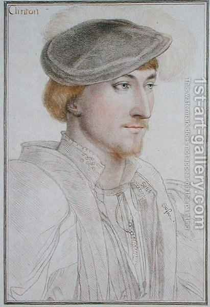 Lord Clinton 1512-85 1st Earl of Llincoln by (after) Holbein the Younger, Hans - Reproduction Oil Painting