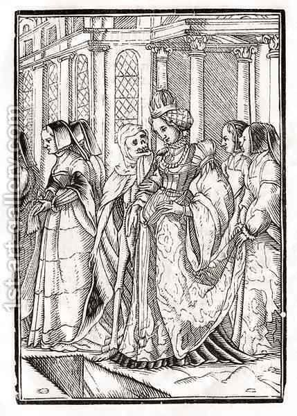 Death comes for the Empress by (after) Holbein the Younger, Hans - Reproduction Oil Painting