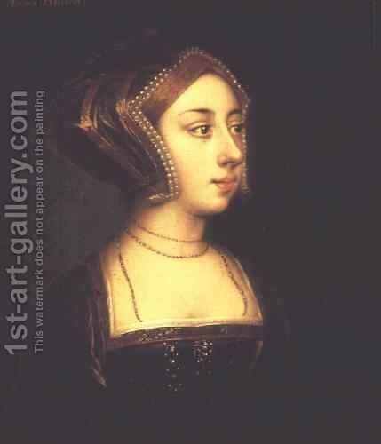 Anne Boleyn 1507-36 2 by (after) Holbein the Younger, Hans - Reproduction Oil Painting