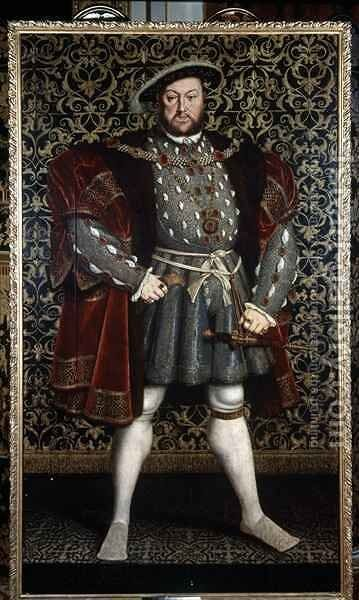 Portrait of King Henry VIII by (after) Holbein the Younger, Hans - Reproduction Oil Painting