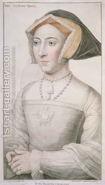 Jane Seymour c 1509-37 by (after) Holbein the Younger, Hans - Reproduction Oil Painting
