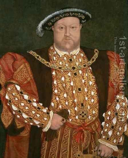 Portrait of Henry VIII by (after) Holbein the Younger, Hans - Reproduction Oil Painting