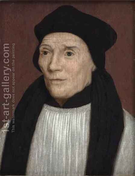Portrait of John Fisher Bishop of Rochester by (after) Holbein the Younger, Hans - Reproduction Oil Painting