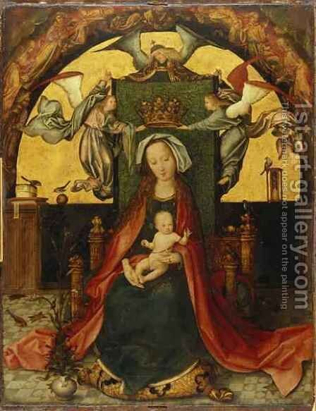 Madonna and Child by Hans, The Elder Holbein - Reproduction Oil Painting