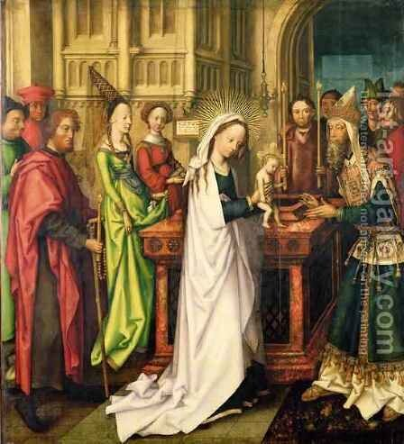 Depiction of Christ in the Temple by Hans, The Elder Holbein - Reproduction Oil Painting