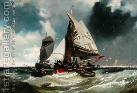 Hauling in by Charles Hoguet - Reproduction Oil Painting