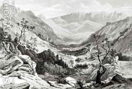 View between Senafe and Rahaguddy by (after) Hogg, Major A.G.F. - Reproduction Oil Painting