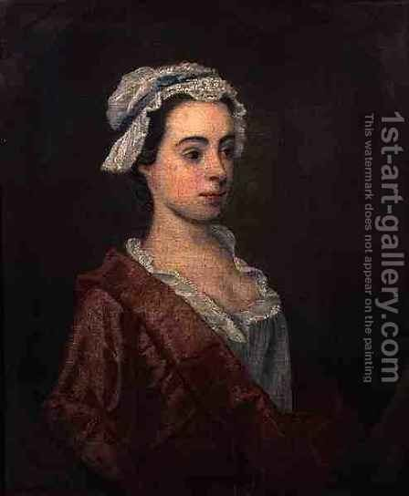 Portrait of a Girl by (attr. to) Hogarth, William - Reproduction Oil Painting