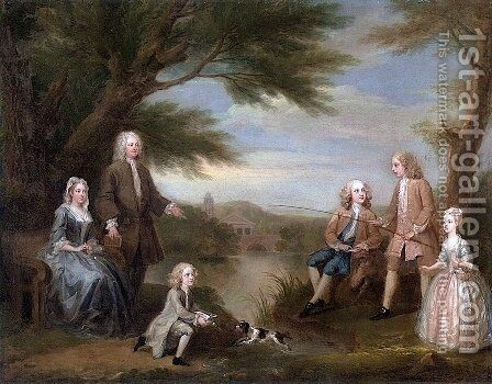 The Jeffreys Family by William Hogarth - Reproduction Oil Painting