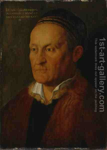 Portrait of Nuremberger Patrician Jacob Muffel by Hans Hoffmann - Reproduction Oil Painting