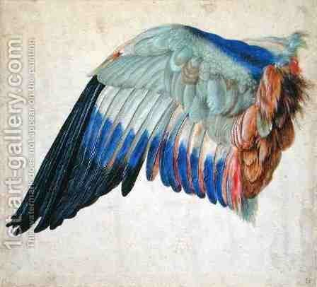 Wing of a Blue Roller by Hans Hoffmann - Reproduction Oil Painting