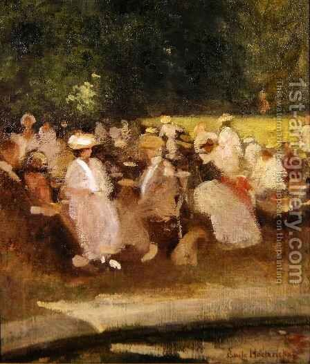 Summer in the Park by Emile Hoeterickx - Reproduction Oil Painting