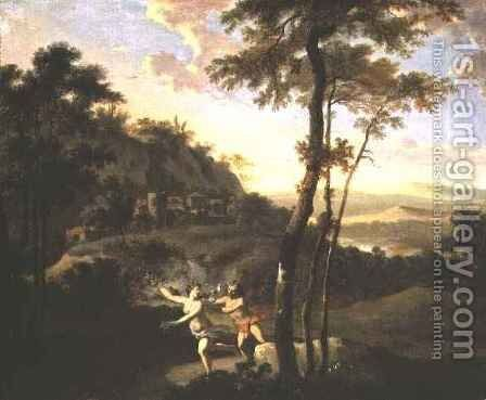 Apollo and Daphne by Gerard Hoet - Reproduction Oil Painting