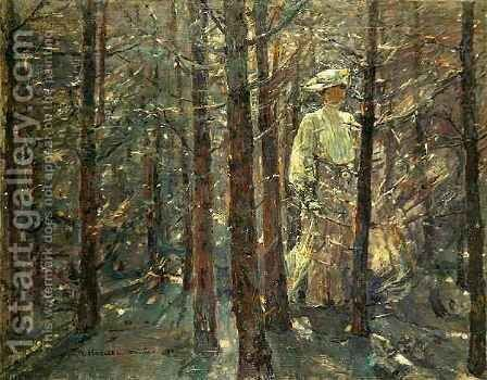 Woman in a Wood by Adolf Hoelzel - Reproduction Oil Painting