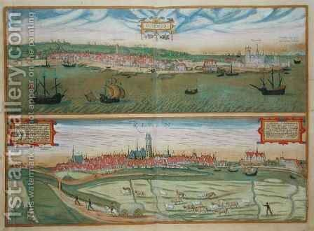 Elsenor and Ripen from Civitates Orbis Terrarum by (after) Hoefnagel, Joris - Reproduction Oil Painting