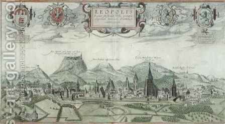 View of Leopolis from Civitates Orbis Terrarum by (after) Hoefnagel, Joris - Reproduction Oil Painting