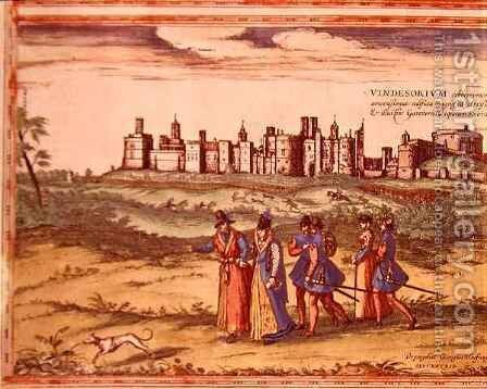 View of Windsor Castle from Civitates Orbis Terrarum by (after) Hoefnagel, Joris - Reproduction Oil Painting