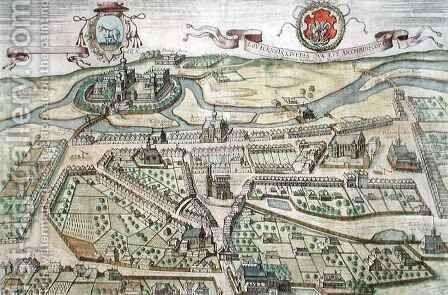 View of Lowicz from Civitates Orbis Terrarum by (after) Hoefnagel, Joris - Reproduction Oil Painting