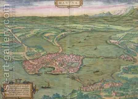 Map of Mantua from Civitates Orbis Terrarum by (after) Hoefnagel, Joris - Reproduction Oil Painting