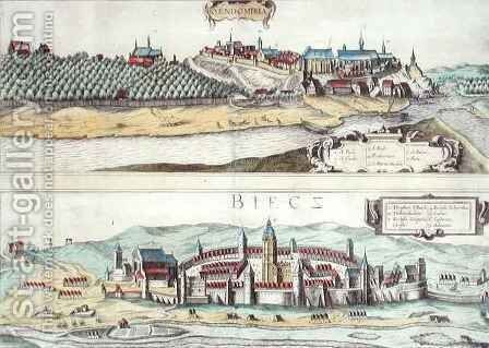 Views of Sendomiria and Biecz from Civitates Orbis Terrarum by (after) Hoefnagel, Joris - Reproduction Oil Painting