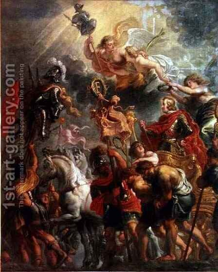 Triumphal Entry into Antwerp of Cardinal Infante Ferdinand of Spain by Jan van den Hoecke - Reproduction Oil Painting