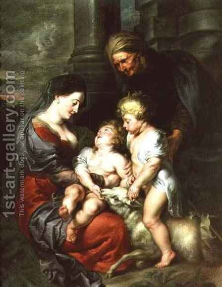 Madonna and Child with St Elizabeth and the Infant St John the Baptist by Jan van den Hoecke - Reproduction Oil Painting