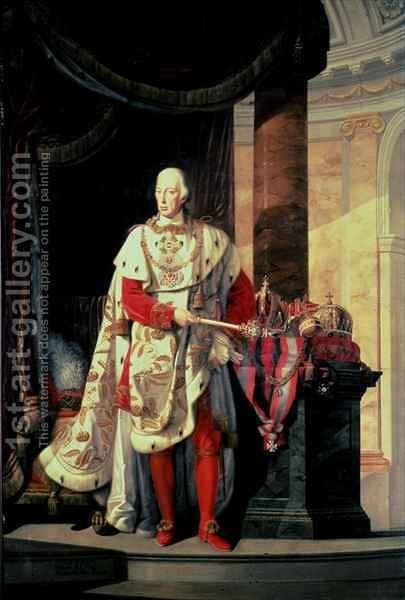 Emperor Francis I of Austria 1768-1835 by Johann Baptist Hoechle - Reproduction Oil Painting