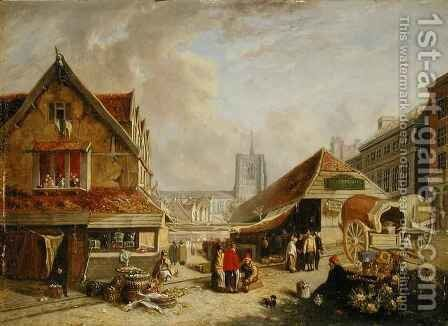The Old Fishmarket Norwich by David Hodgson - Reproduction Oil Painting