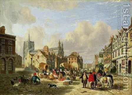 The Haymarket Norwich by David Hodgson - Reproduction Oil Painting