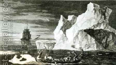 The Ice Islands on the 9th January 1773 by (after) Hodges, William - Reproduction Oil Painting