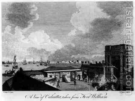 A View of Calcutta taken from Fort William by (after) Hodges, William - Reproduction Oil Painting