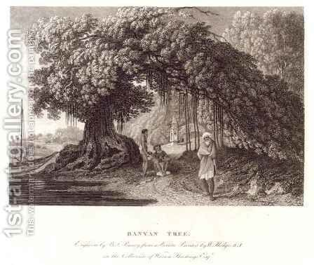 A Banyan Tree from Travels in India in in the Years 1780-83 by (after) Hodges, William - Reproduction Oil Painting