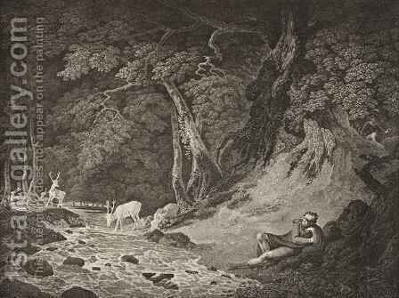 The Forest of Arden Act II Scene I from As You Like It by (after) Hodges, William - Reproduction Oil Painting