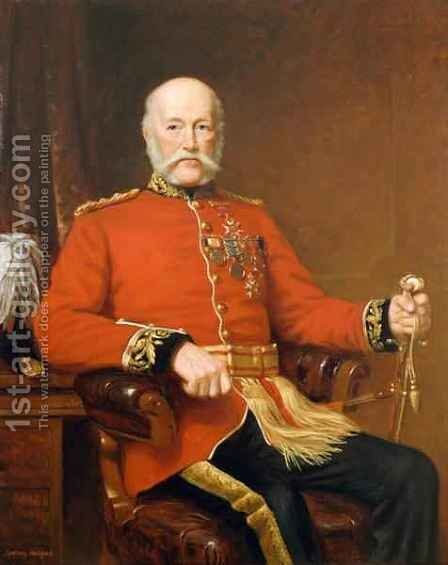 General Joseph Edwin Thackwell CB 1813-1900 by J. Sydney Willis Hodges - Reproduction Oil Painting