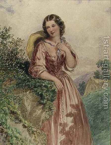A Country Girl by Henry Hobson - Reproduction Oil Painting