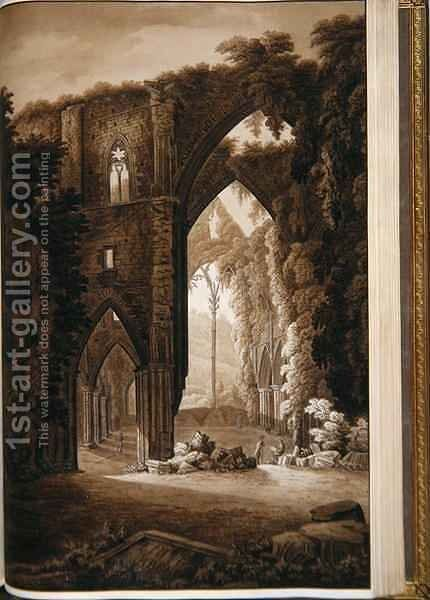Tintern Abbey from the Historical Tour through Monmouthshire by Sir Richard Colt Hoare - Reproduction Oil Painting